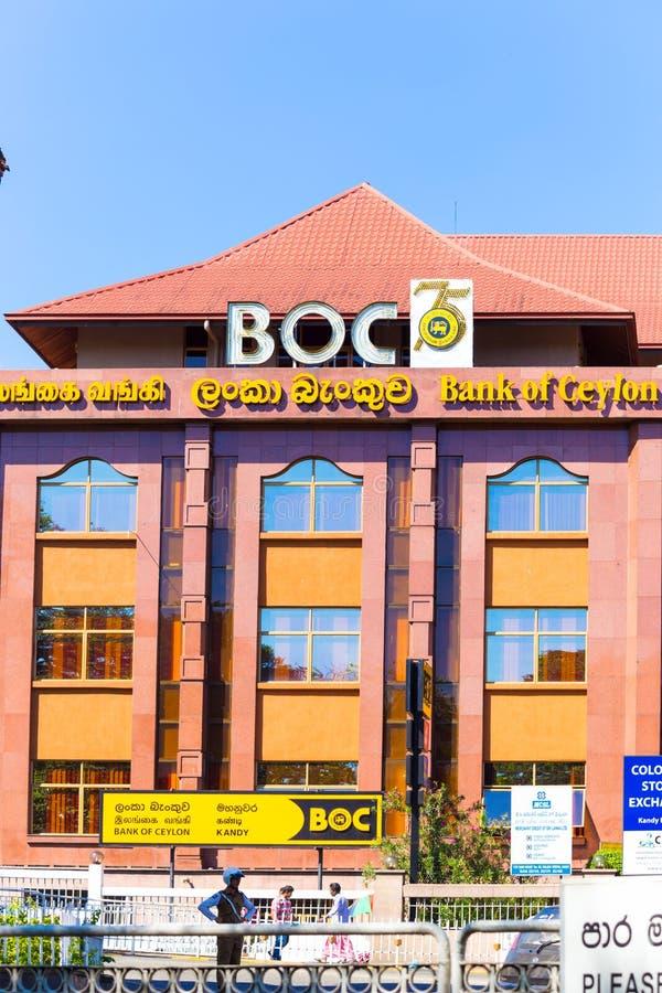 Kandy-Bank von Ceylon Front Facade errichtend stockbilder