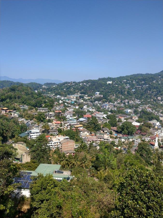 Kandy city in Sri Lanka royalty free stock photo