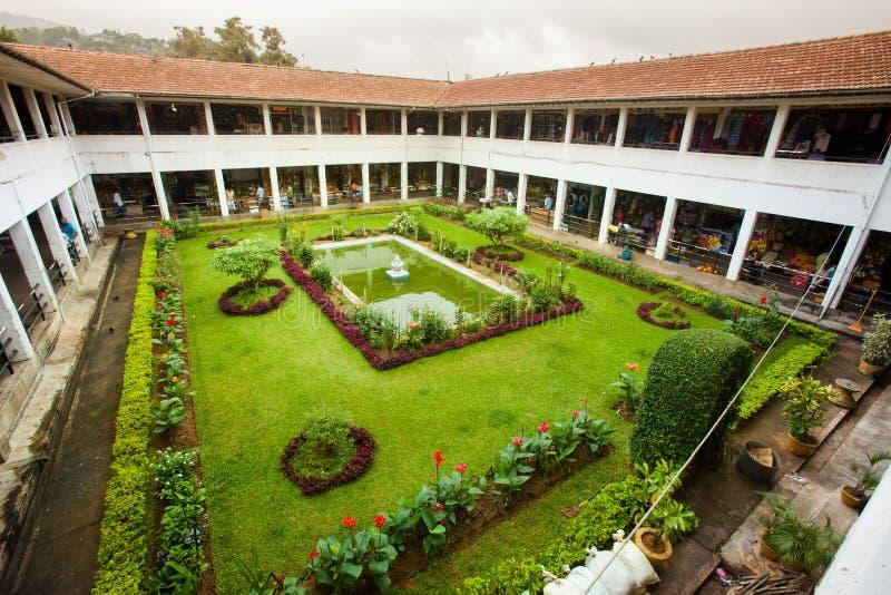 Kandy saluhall Sri Lanka Klosterträdgård royaltyfri foto