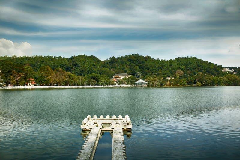 Kandy sjö fotografering för bildbyråer