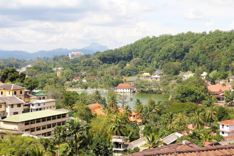 Kandy sri lanka. Kandy city landscape in sri lanka royalty free stock photos