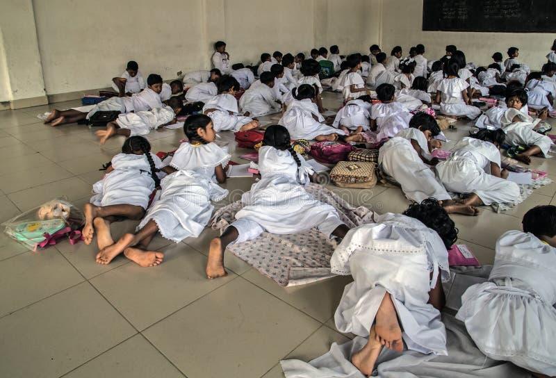 Kandy Sri Lanka Young school. Lesson in school room Sri lankan teacher royalty free stock photography