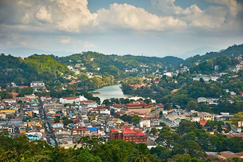 Kandy stad i Sri Lanka royaltyfri fotografi