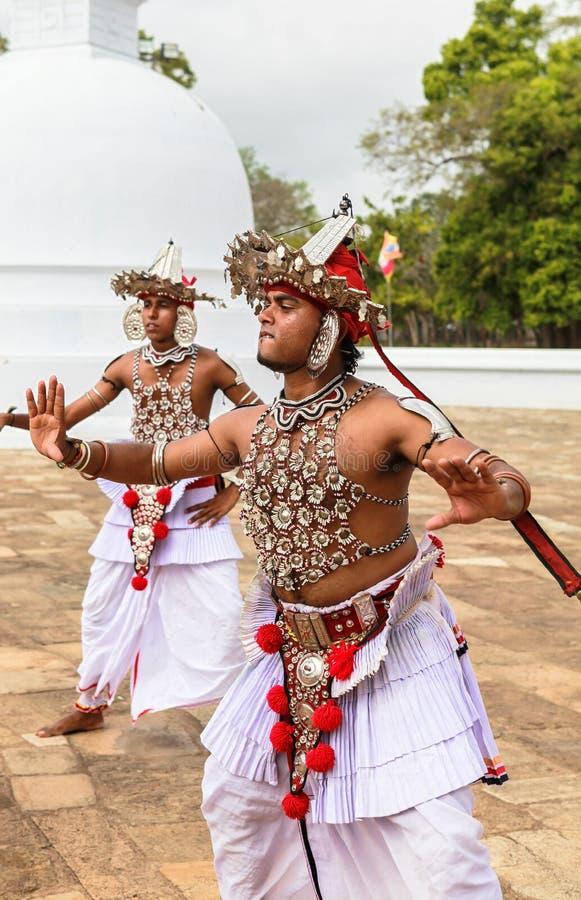 Kandyan dans i Anuradhapura, Sri Lanka royaltyfri foto