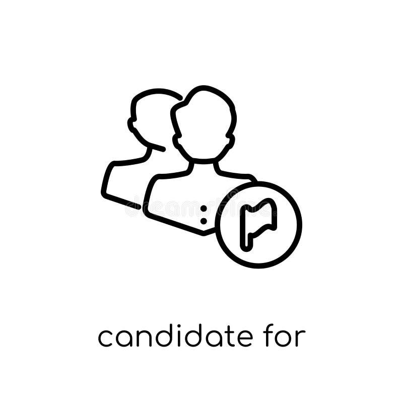 Kandydat dla wybory ikony Modny nowożytny płaski liniowy wektor C royalty ilustracja