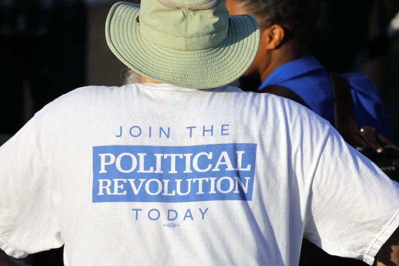 Kandyday Na Prezydenta Bernie Sanders wieców zwolennicy w Sant fotografia royalty free