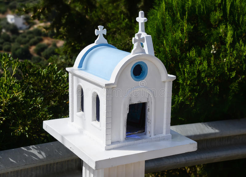 Kandylakia. Typical greek miniature roadside shrine royalty free stock images