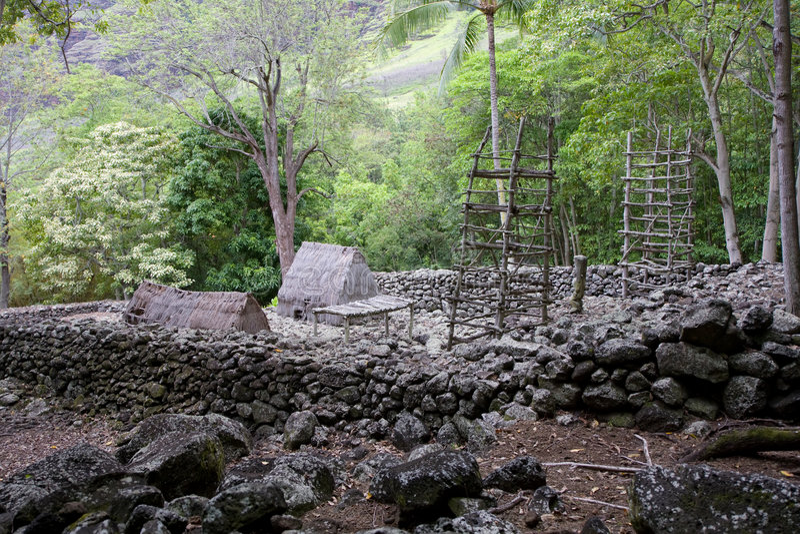 Download Kane Aki Heiau 1 stock image. Image of temple, worship - 5853993