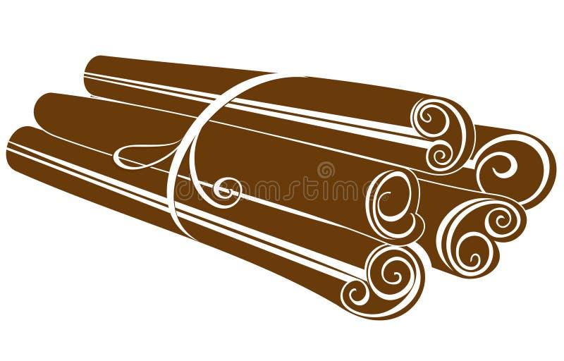 Kanelbruna pinnar vektor illustrationer