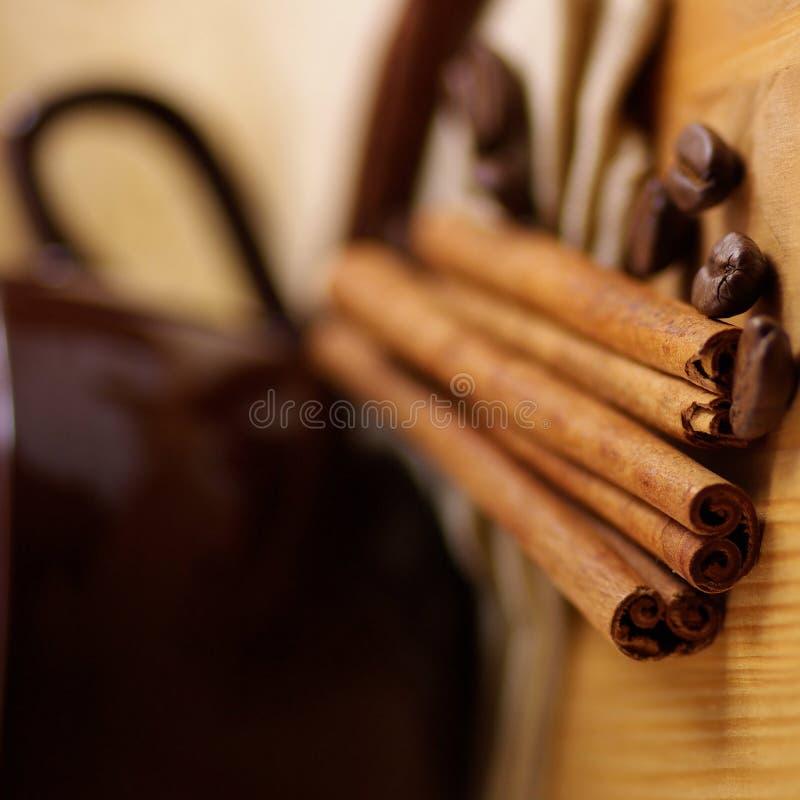 kanelbrunt kaffe royaltyfri bild