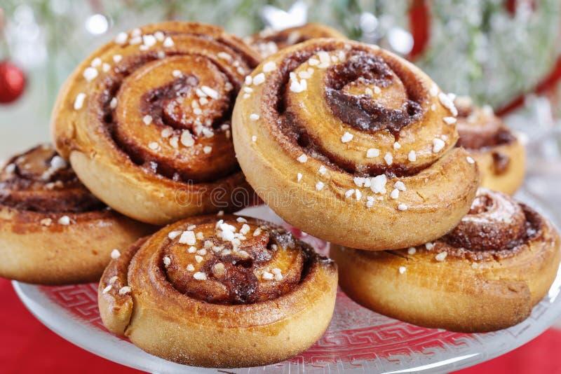 Kanelbulle - swedish cinnamon rolls stock image