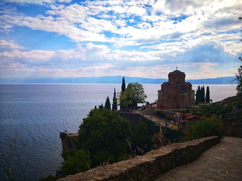 Kaneo λιμνών της Οχρίδας στοκ εικόνες