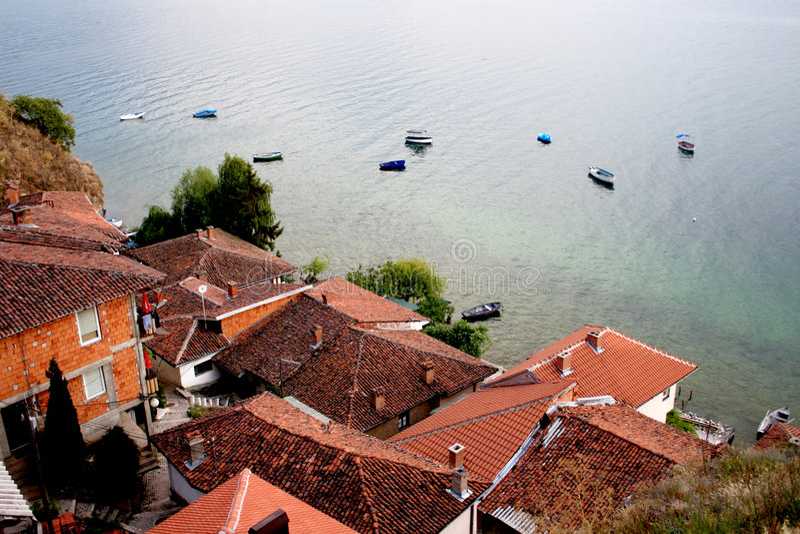 Kaneo, Ohrid, Makedonien lizenzfreie stockfotografie