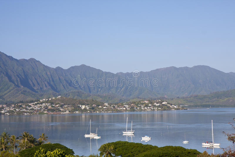 Kaneohe Bay, Oahu, Hawaii royalty free stock photography