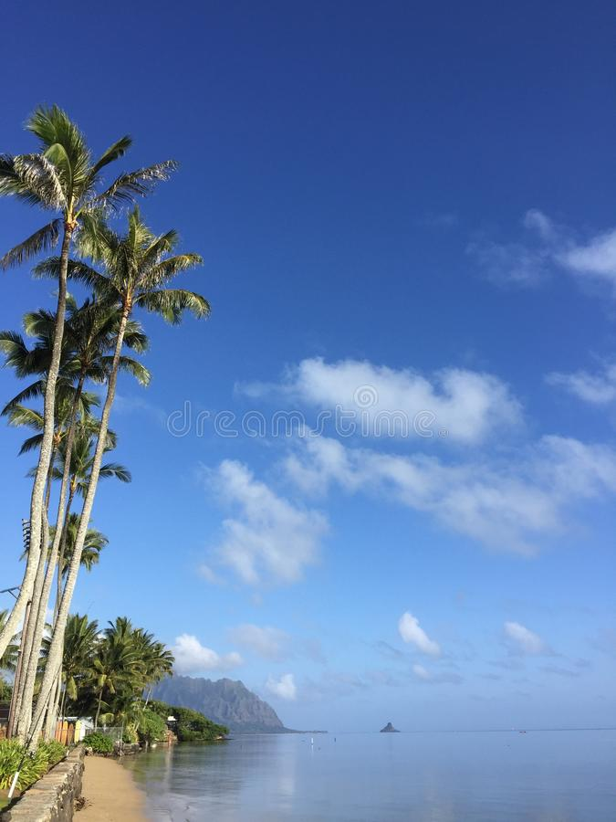 Kaneohe bay stock photo