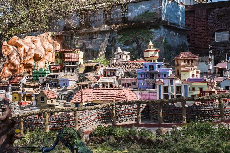 KANERI MATH, KOLHAPUR, MAHARASHTRA, INDIA, April 2017, Sculpture shows Architectural rending of Siddhagiri Museum stock photos