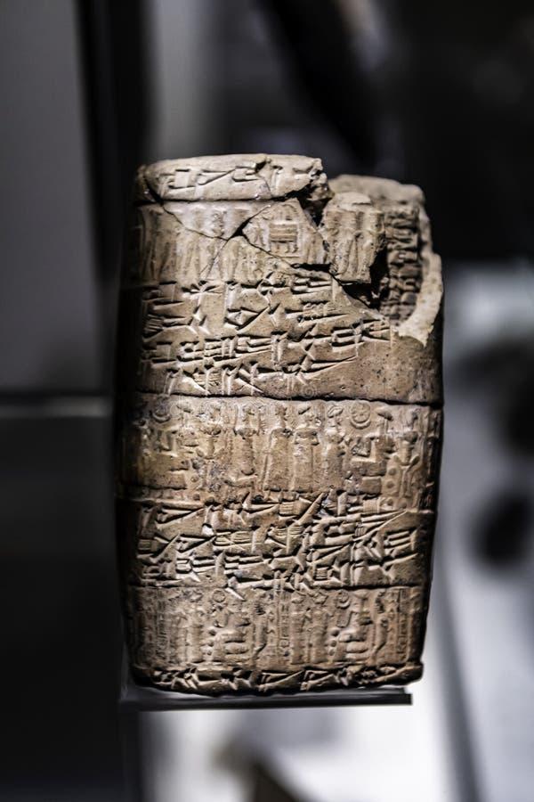 Kanesh-Hittite keilf?rmig mit Rollsiegeln stockbilder