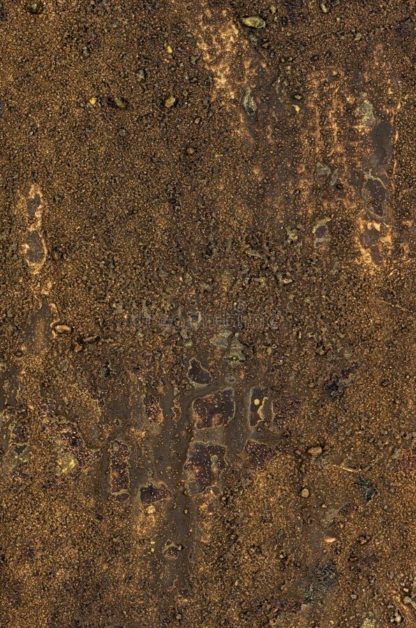 Kanfas med akrylmålarfärg och sand arkivfoto
