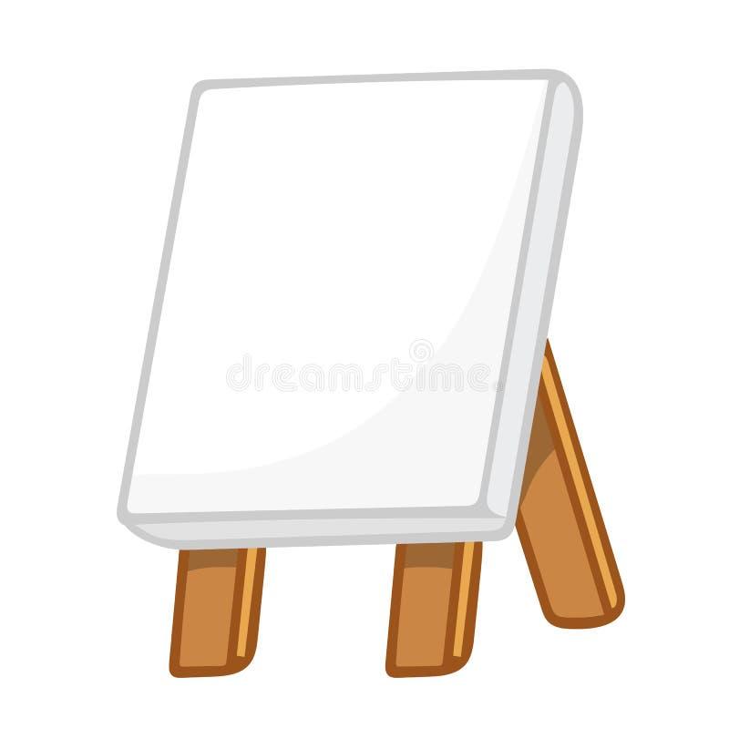Kanfasmålning på staffli stock illustrationer