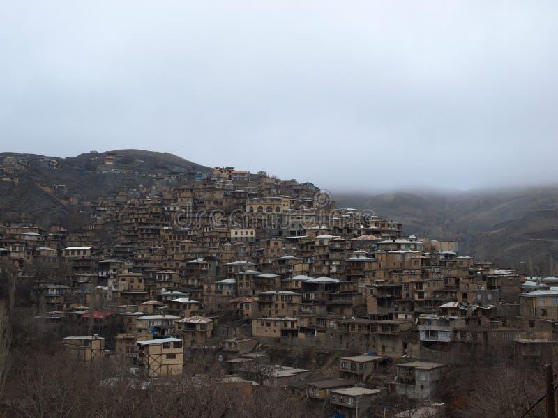 Kanga wioska, północno-wschodni Iran obraz royalty free