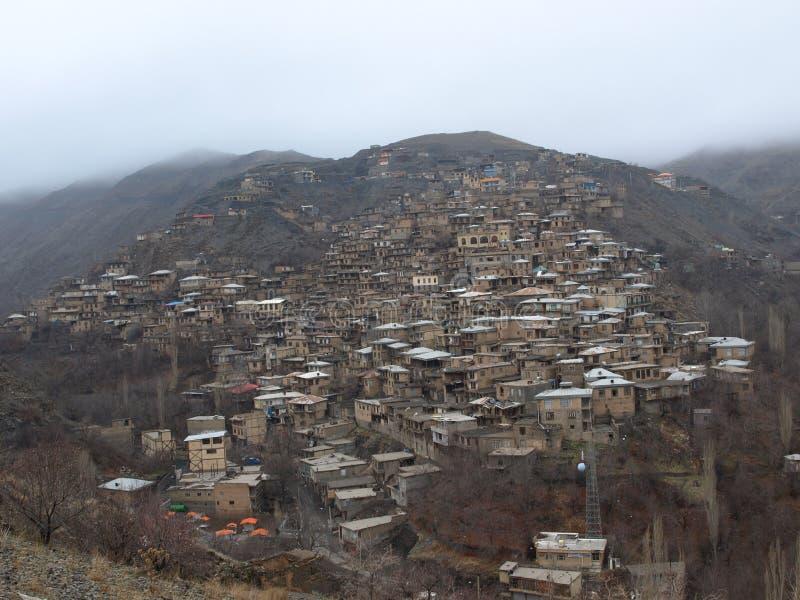 Kanga wioska, północno-wschodni Iran zdjęcie royalty free