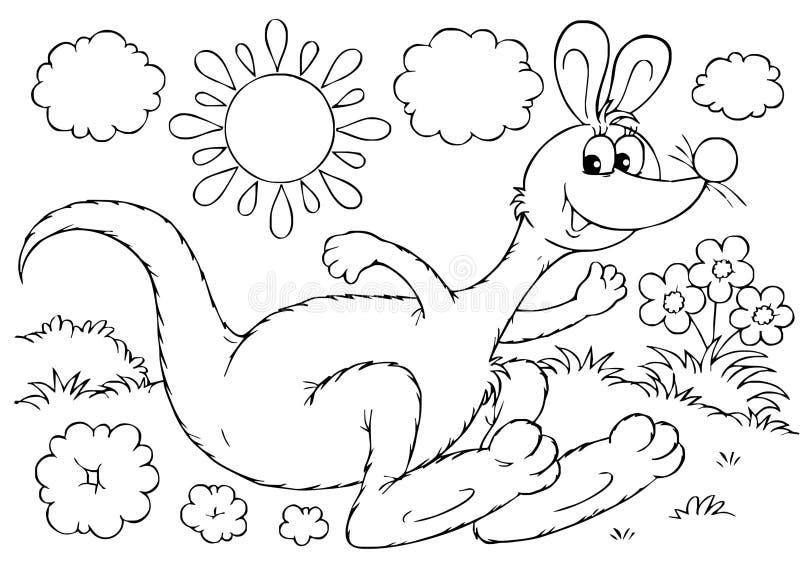 Download Kangaroo stock illustration. Image of wallaby, black - 15050212