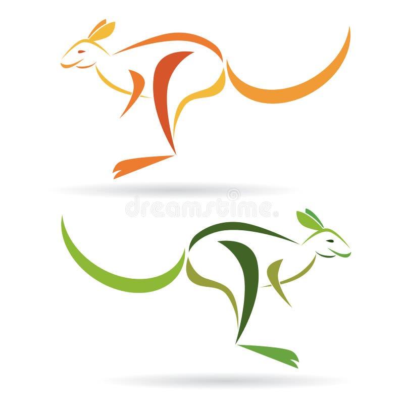 Kangaroo. Vector image of an kangaroo on a white background royalty free illustration