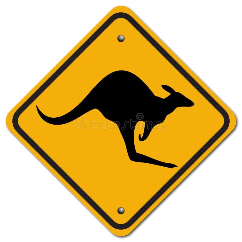 Kangaroo. The sign to warn you to beware the kangaroo vector illustration