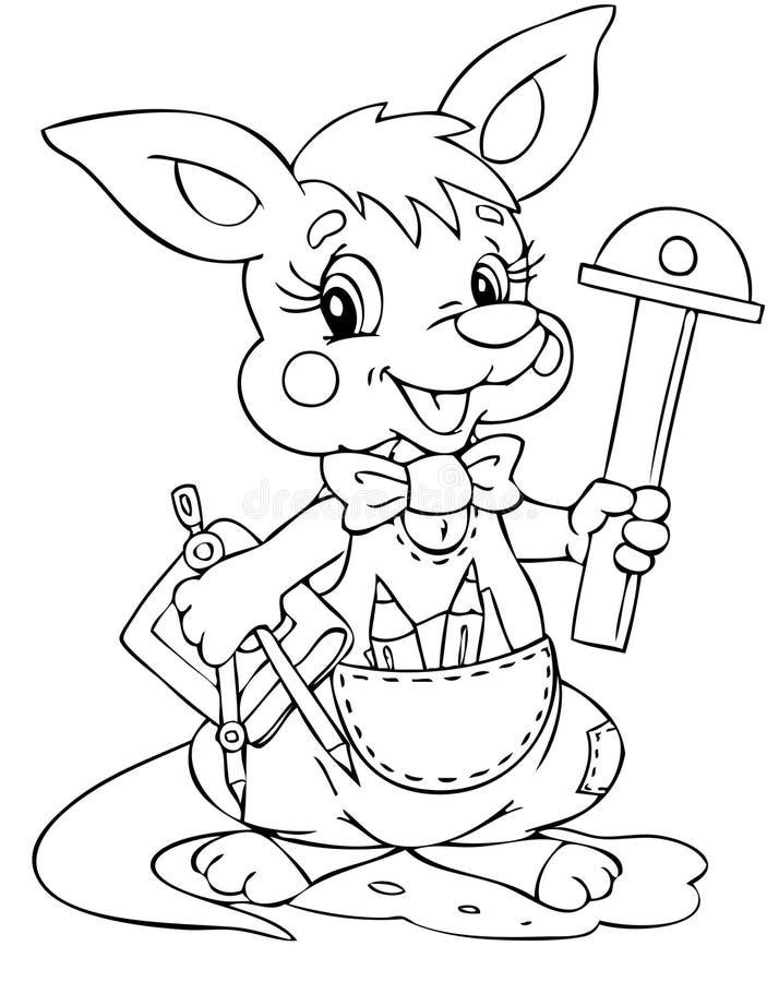 Kangaroo. Illustration of the little kangaroo engineer vector illustration