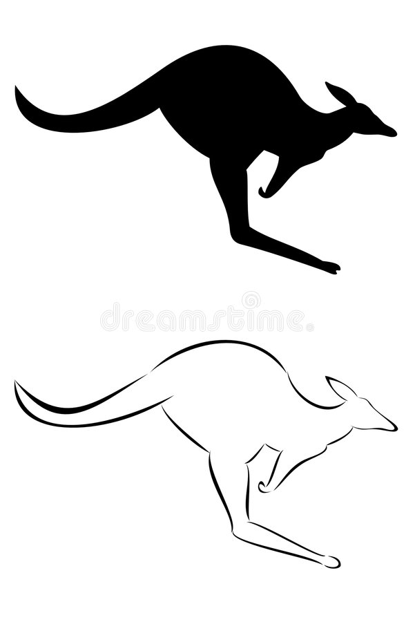 Download Kangaroo stock vector. Illustration of marsupial, animal - 8314640