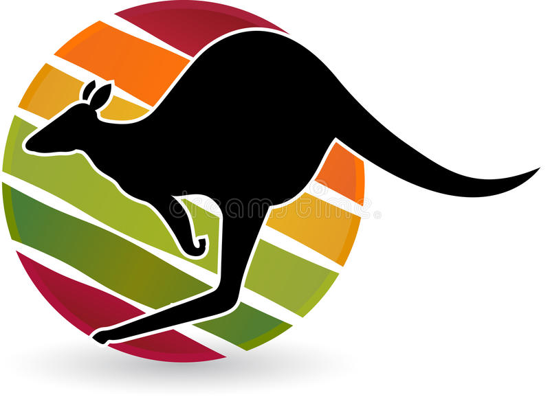 Kangaroo. Illustration art of a kangaroo with background vector illustration