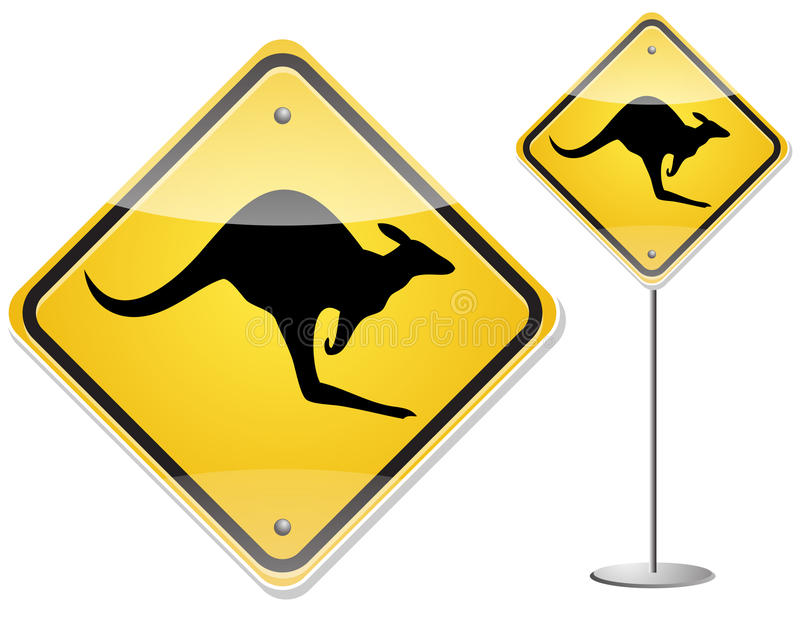 Kangaroo sign vector illustration