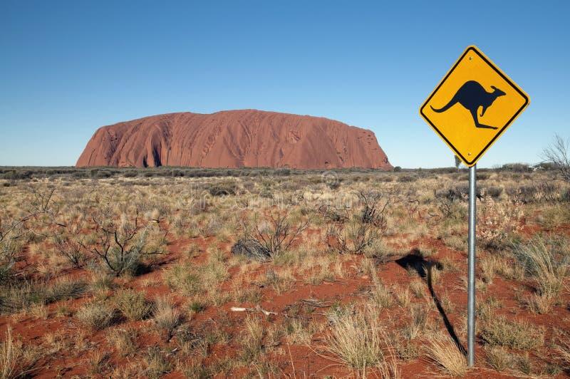 Download Kangaroo Sign Next To Uluru Editorial Photo - Image: 11418091