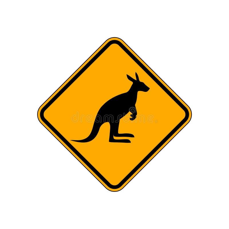 Kangaroo Road Sign royalty free illustration
