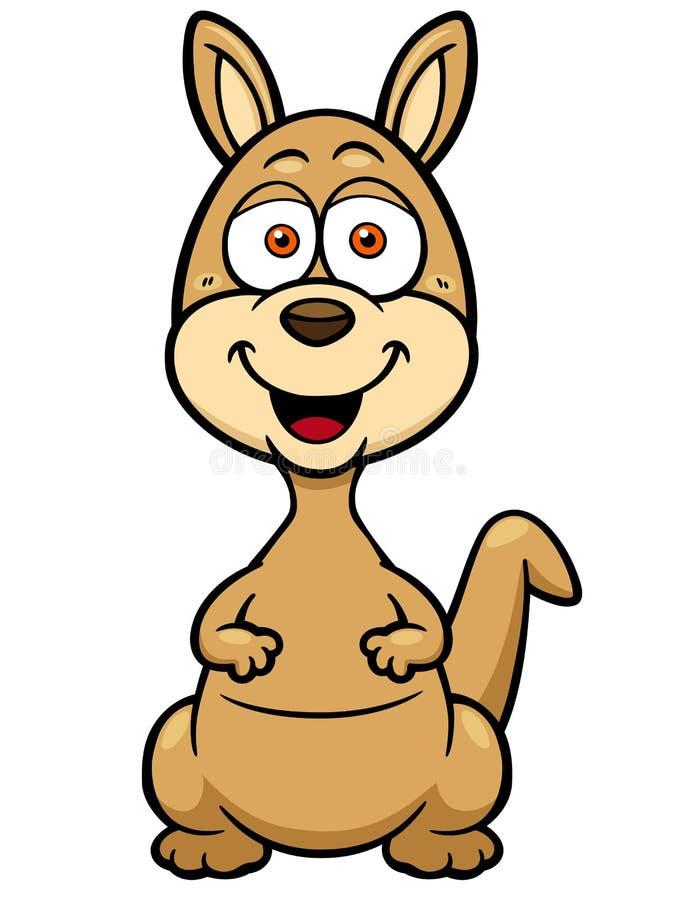 Kangaroo. Vector illustration of Kangaroo cartoon stock illustration