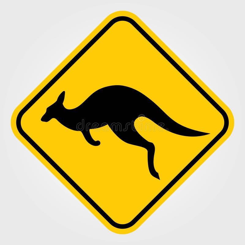 Kangaroo warning sign. Vector illustration vector illustration