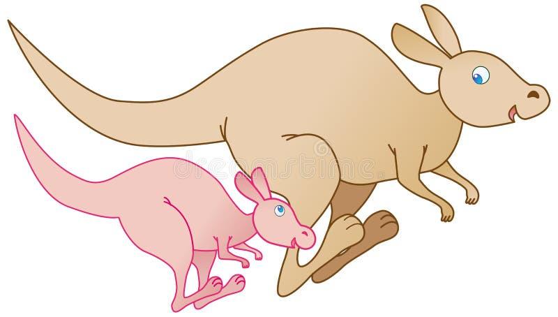 Kangaroos royalty free illustration