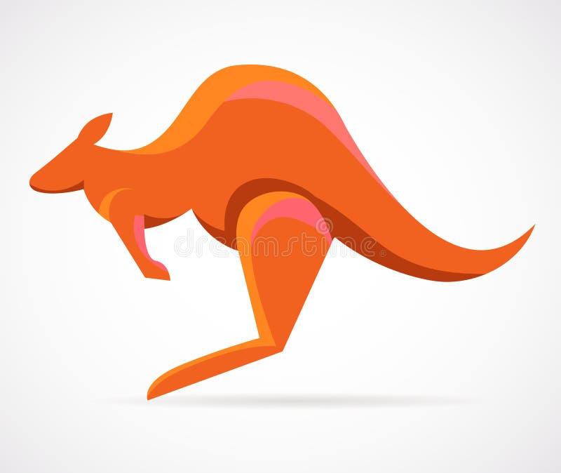 Kangoeroe - vectorillustratie royalty-vrije illustratie