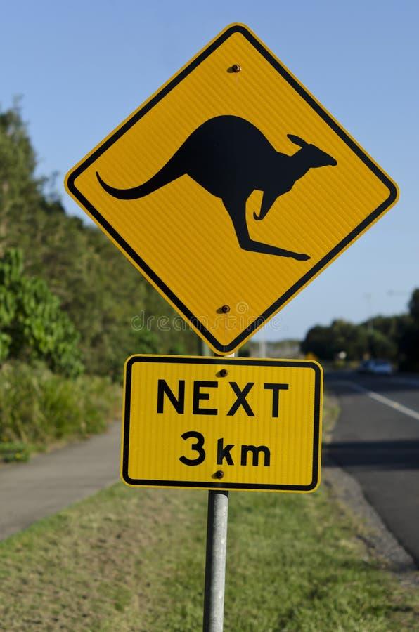 Kangoeroeverkeersteken stock foto