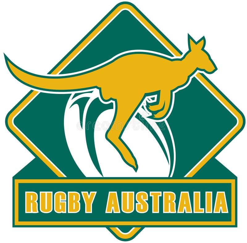 Kangourou de l'Australie de rugby illustration de vecteur