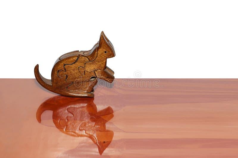 Kangourou en bois photo libre de droits