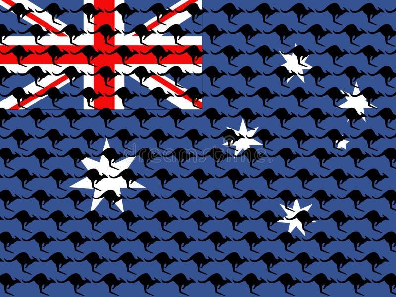 Kangourou et indicateur australien illustration libre de droits