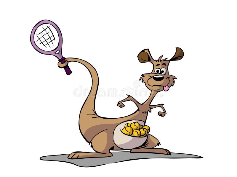 Sports et détentes - Page 12 Kangourou-jouant-au-tennis-12740809