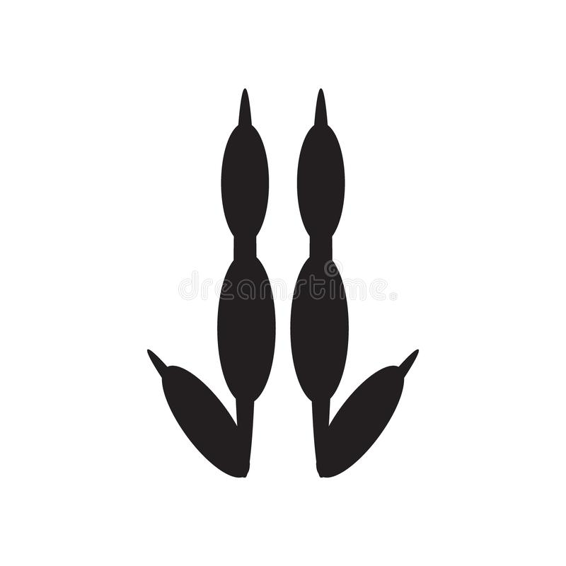 Kangur łapy ikona royalty ilustracja