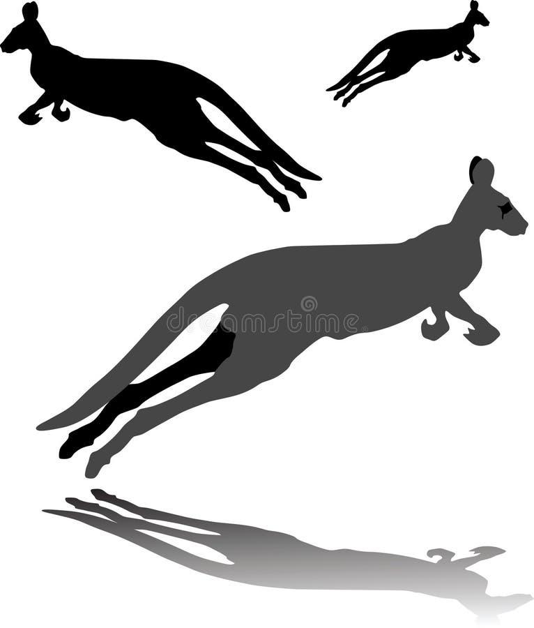 Download Kangur ilustracja wektor. Obraz złożonej z ogon, krzak - 26004083