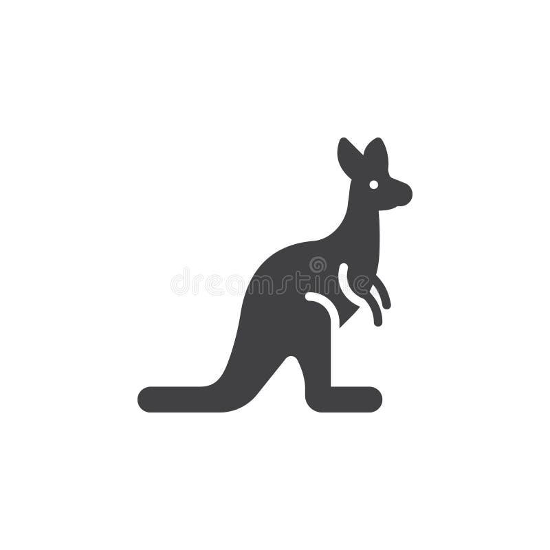 Kangur ikony wektor, wypełniający mieszkanie znak ilustracji