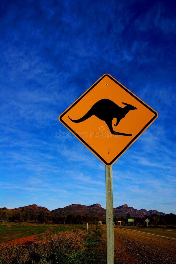 kangura funta znaka wilpena zdjęcia royalty free