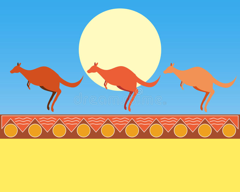 kangury royalty ilustracja