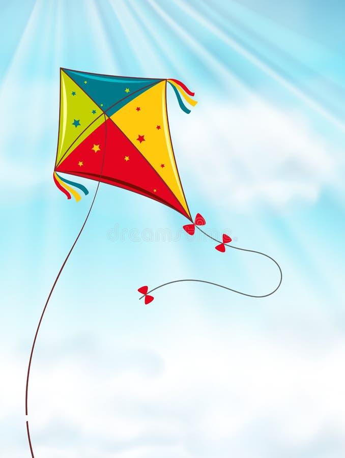 kani błękitny kolorowy latający niebo ilustracji