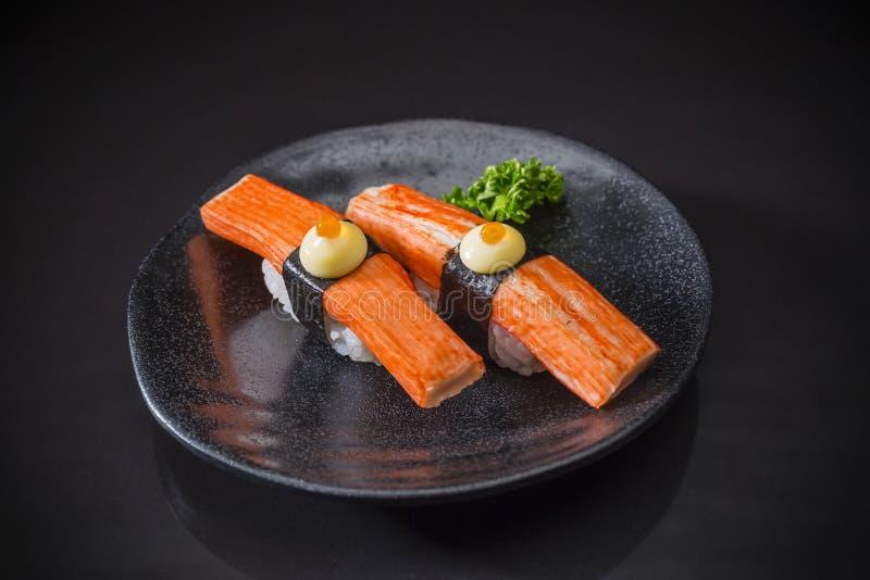 Kani Nigiri, Sushi Kani stock afbeeldingen